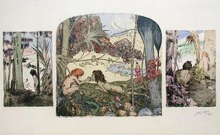 Adam et Eve by Abel Pann