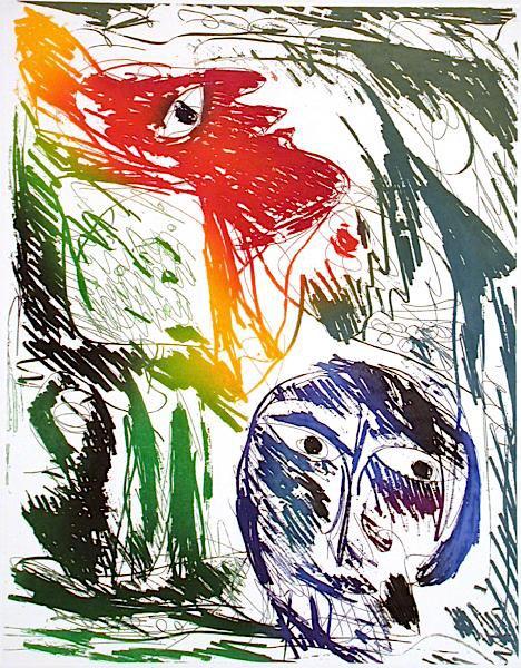L'adoration by Carl-Henning Pedersen