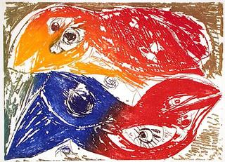 Les Inséparables by Carl-Henning Pedersen