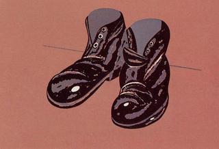 Souliers by Eduardo Arroyo