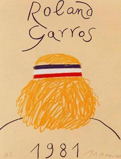 Roland Garros 1981 by Eduardo Arroyo