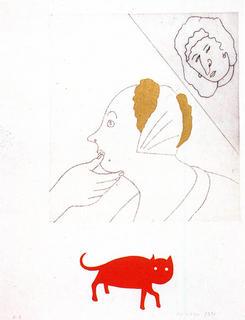 La Servante de Teniers by Eduardo Arroyo