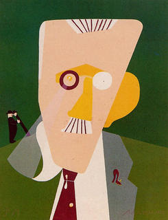 Portait de James Joyce by Eduardo Arroyo
