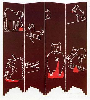 Paravent aux Chiens et aux Chats (269) by Eduardo Arroyo