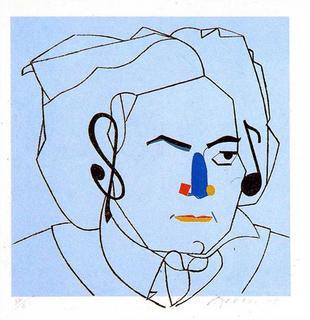 Beethoven (307) by Eduardo Arroyo