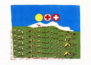 Switzerland by Eduardo Arroyo