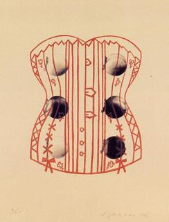 Corset and Apricots by Eduardo Arroyo