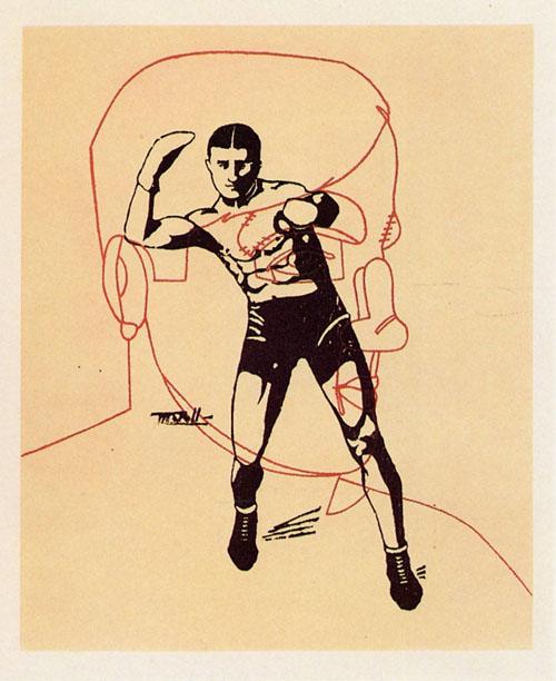 Arthur Cravan After his Fight vs. J.Johnson by Eduardo Arroyo