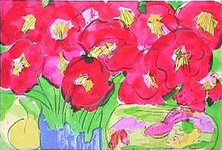 Fleurs Rouges by Walasse Ting