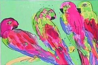 Quatre Perroquets by Walasse Ting