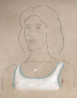 Woman Portrait by Yannis Tsarouchis