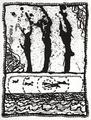 Les trois coups by Pierre Alechinsky