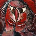 Red Masks 25a by Malka Tsentsiper