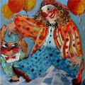 Clown with a Cat by Malka Tsentsiper