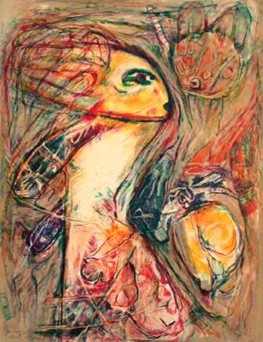 Woman Portrait I by Gina Pellon