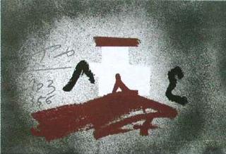 White Cross by Antoni Tàpies