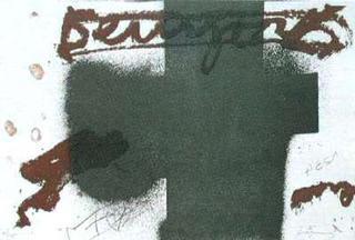 Black Cross by Antoni Tàpies