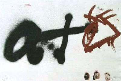 Oeil à Droite by Antoni Tàpies