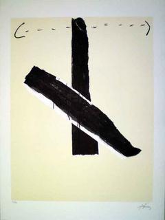 Avant Lettre Galfetti 147 by Antoni Tàpies