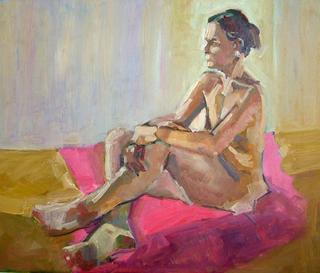 Female on Pink by John Govett