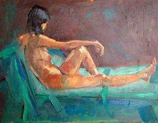 Female on Green by John Govett