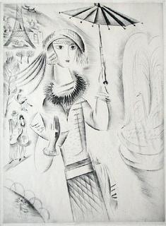 Jeune Fille à l'ombrelle by Mily Possoz