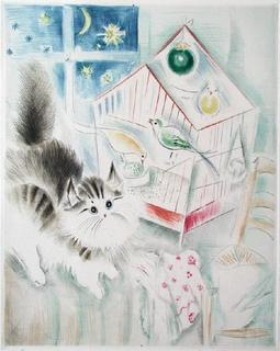 La Cage et le Chat by Mily Possoz