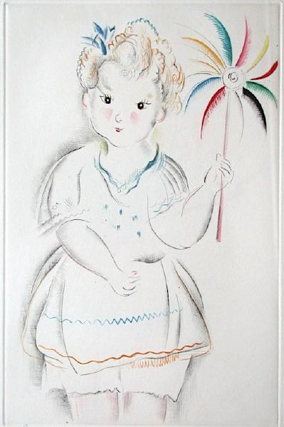 Fillette au Moulinet by Mily Possoz