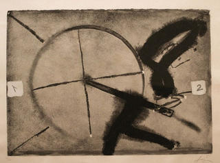 Flocat gris by Antoni Tàpies