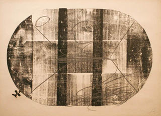 Xilo Oval by Antoni Tàpies