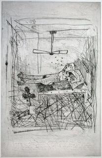 Nu allongé au Ventilateur by Louis Cane