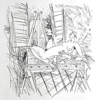 Nu allongé II (1er état) by Louis Cane