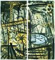Paysage à la Piscine et à la Grue I by Louis Cane