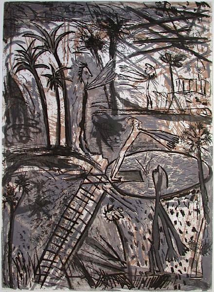 Paysage à l'échelle II by Louis Cane