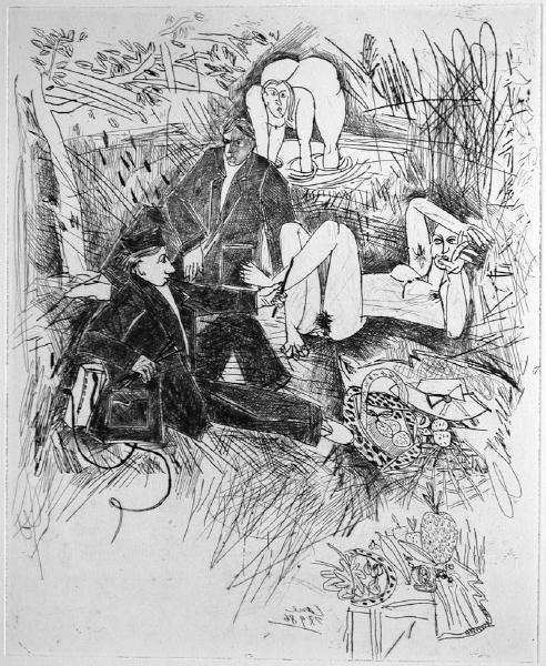 Petit déjeuner sur l'herbe (2ème état) by Louis Cane