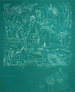 Petit déjeuner sur l'herbe (taille blanche) by Louis Cane