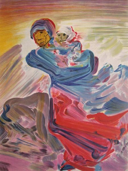 Femme Et Enfant Original Art By David Alfaro Siqueiros