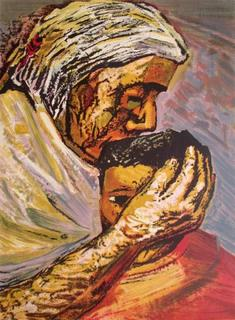 M 232 Re Et Enfant Original Art By David Alfaro Siqueiros