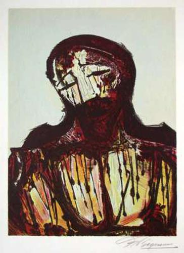 Christ Portrait by David Alfaro Siqueiros