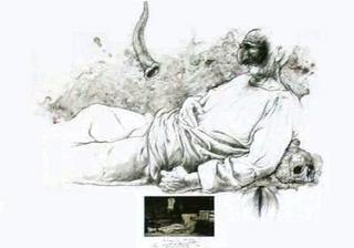 Pulcinella by Ernest Pignon-Ernest