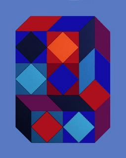 Serie Cube I by Victor Vasarely