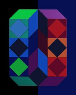 Serie Cube III by Victor Vasarely