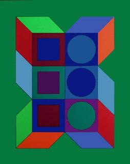 Serie Cube IV by Victor Vasarely