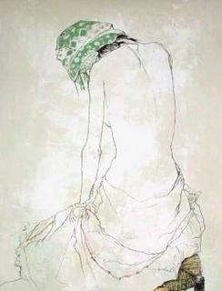 Le Foulard Vert by Jean Jansem