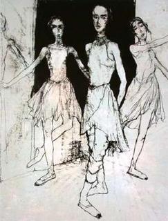 Les Trois Ballerines by Jean Jansem