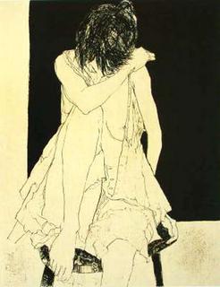 Sonia (état ocre) by Jean Jansem