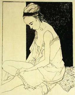 Sylvie (état ocre) by Jean Jansem