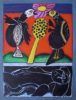 Deux Oiseaux au Soleil by Corneille