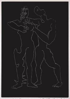 Sept Calligrammes d'Apollinaire 01 by Ossip Zadkine