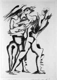 Sept Calligrammes d'Apollinaire 02 by Ossip Zadkine